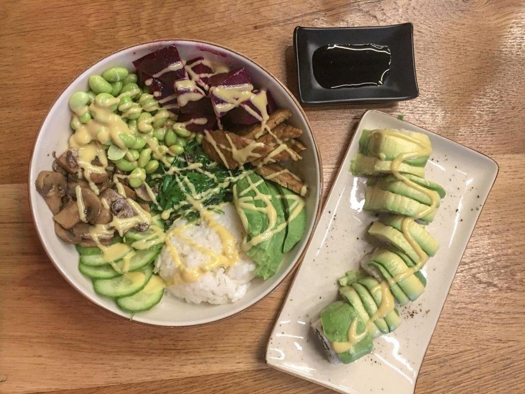 vegan kase avokado maki