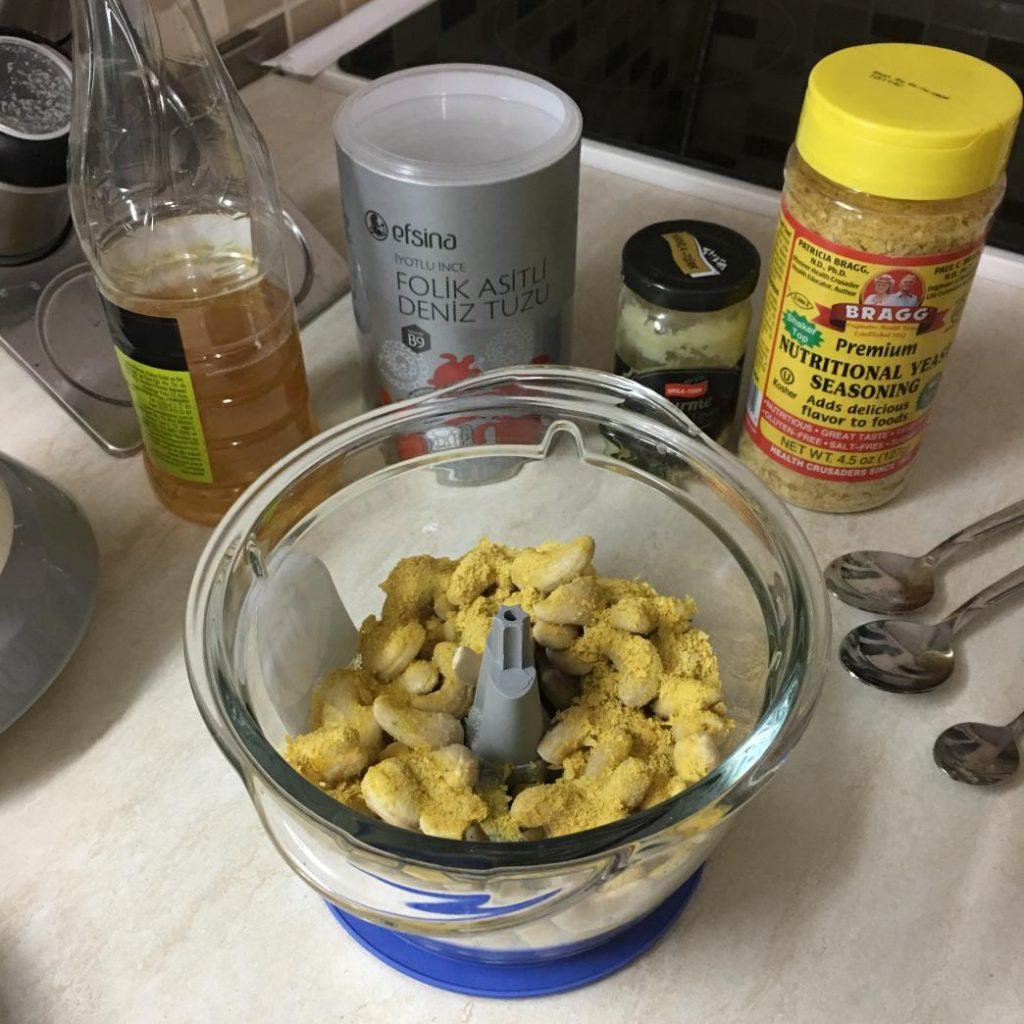 vegan kaju peyniri için gerekli malzemeler