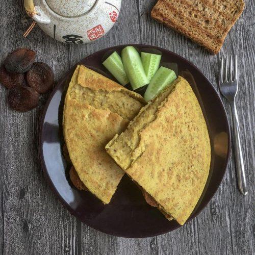 nohut unlu vegan omlet tarifi