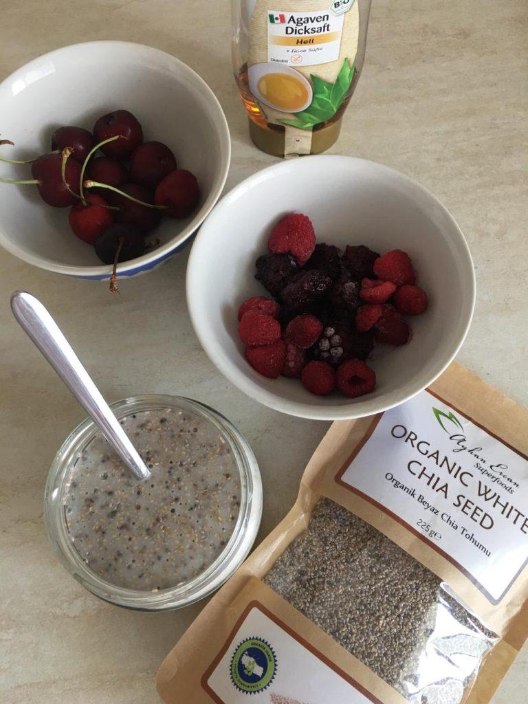 çiya tohumlu puding tarifi için malzemeler