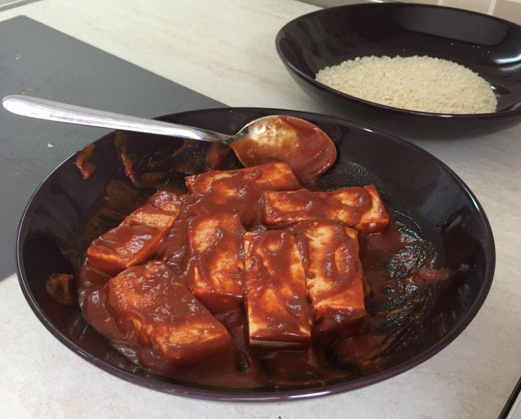 domates sosuyla hazırlanmış tofu yemek tarifleri