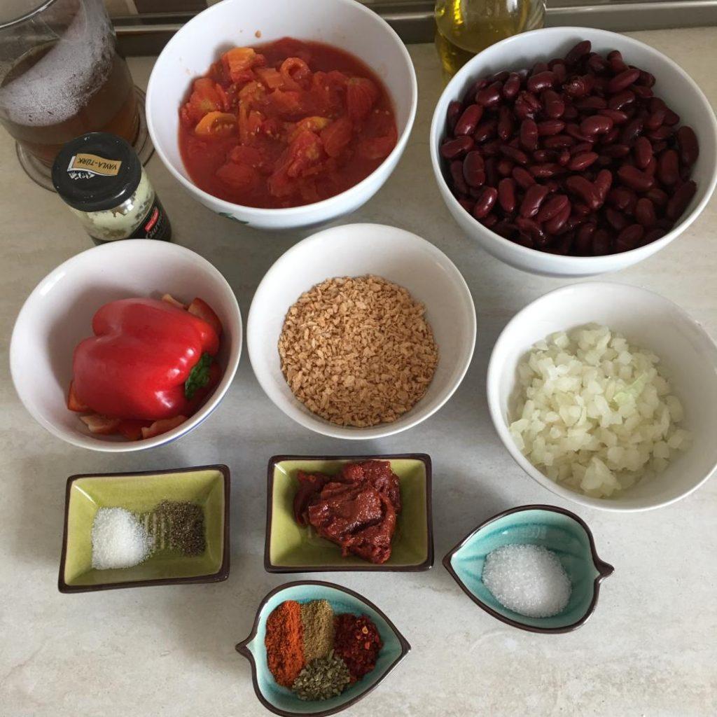 chili con carne malzemeleri