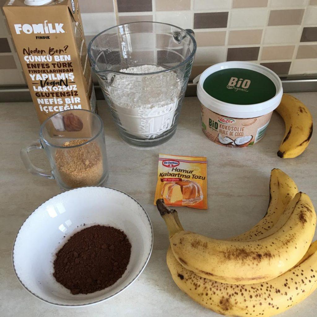 yumurtasız kek tarifi için gerekli malzemeler