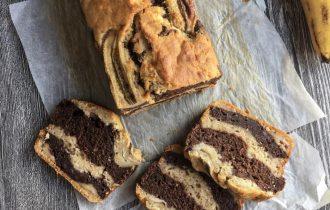 muzla yapılan tatlılardan vegan kek, dilimlenmiş