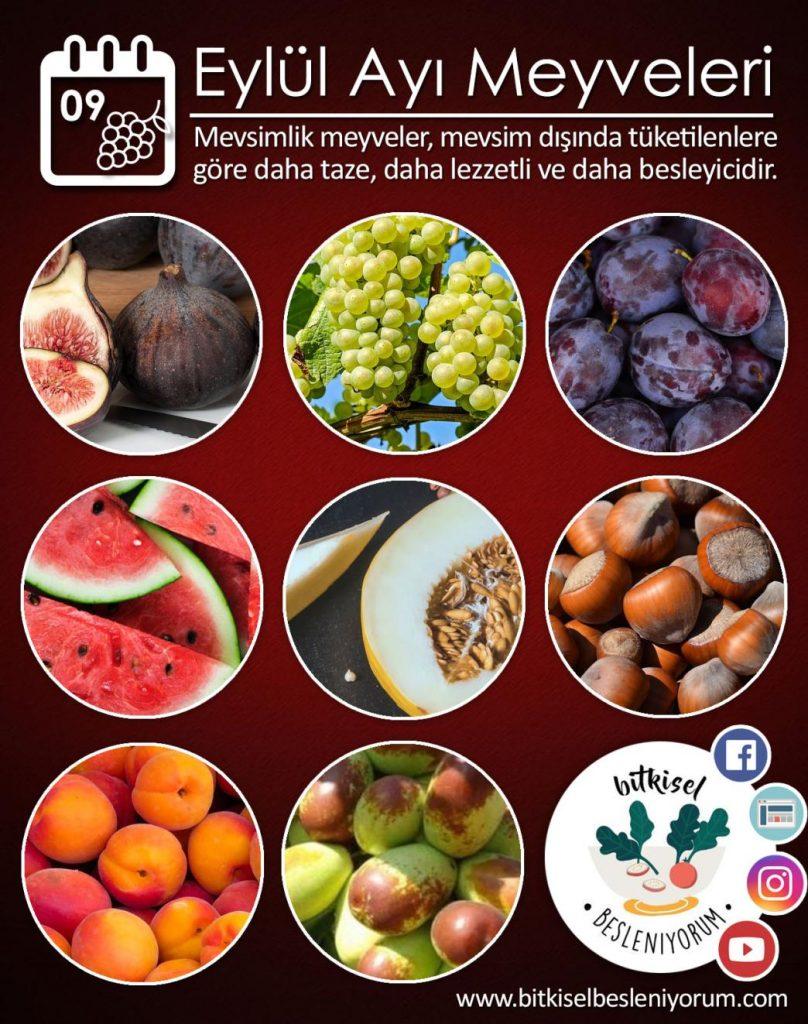 eylül ayı sebze ve meyveleri
