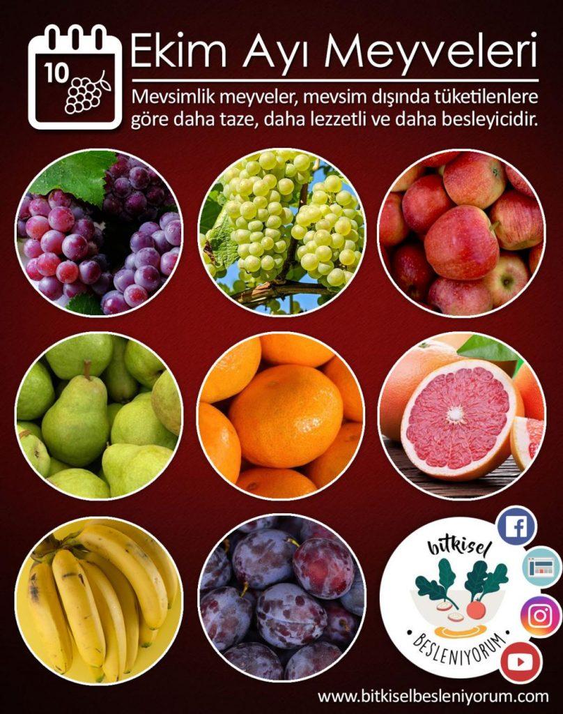 ekim ayı meyveleri