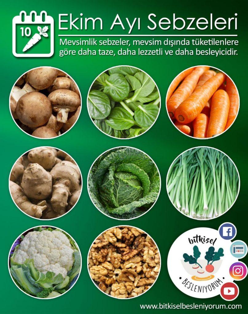 ekim ayı sebzeleri