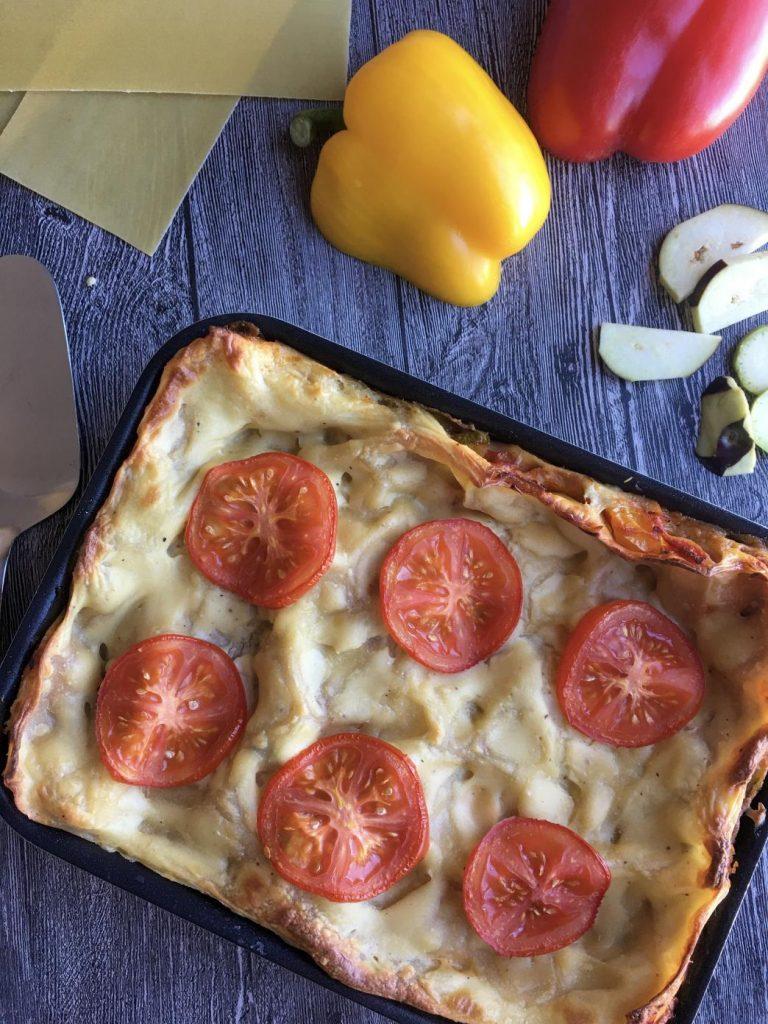 sebzeli lazanya fırından çıkınca