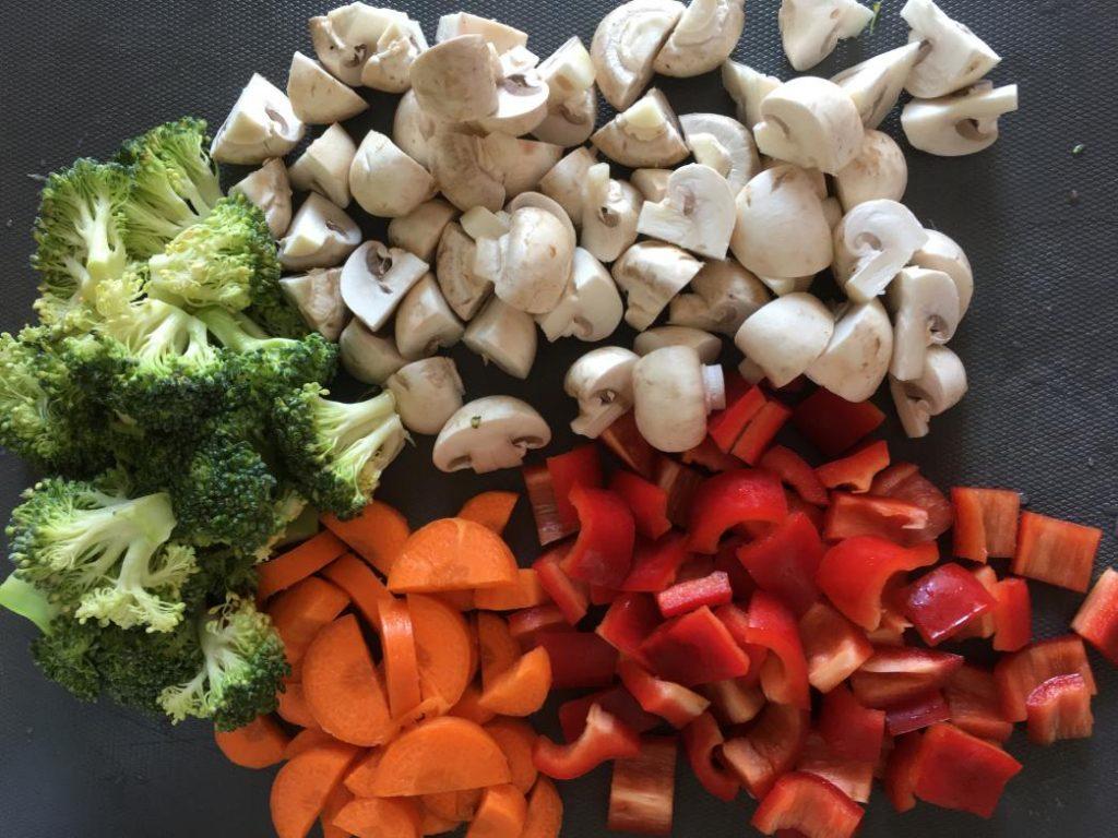 asya usulü tarif için kullandığım sebzeler