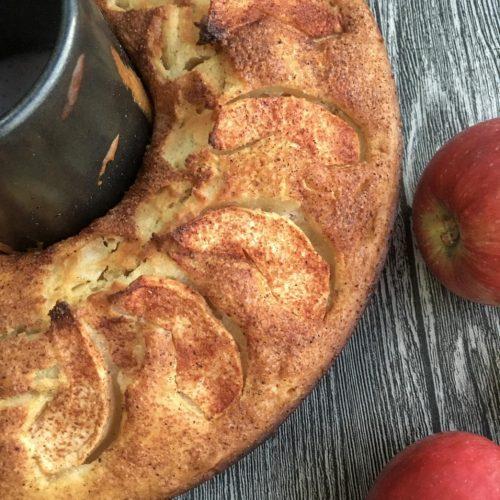 tarçınlı elmalı vegan kek