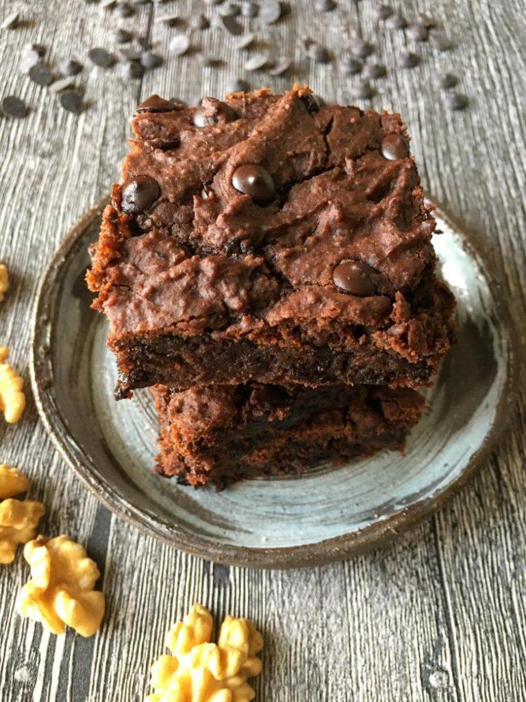 glutensiz şekersiz vegan brownie