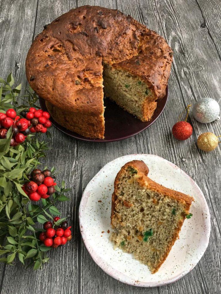 panettone şeklinde kuru meyveli kek tarifi