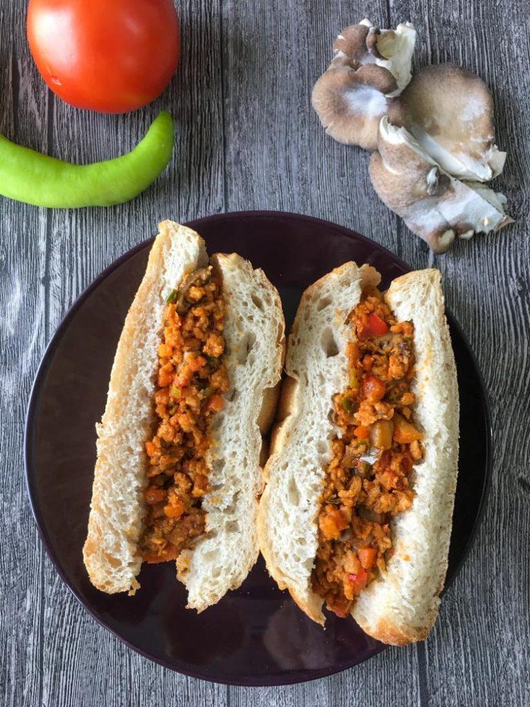 ekmek arası vegan kokoreç